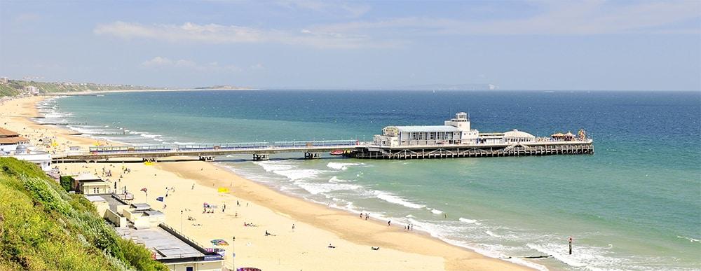 séjour linguistique Bournemouth plage