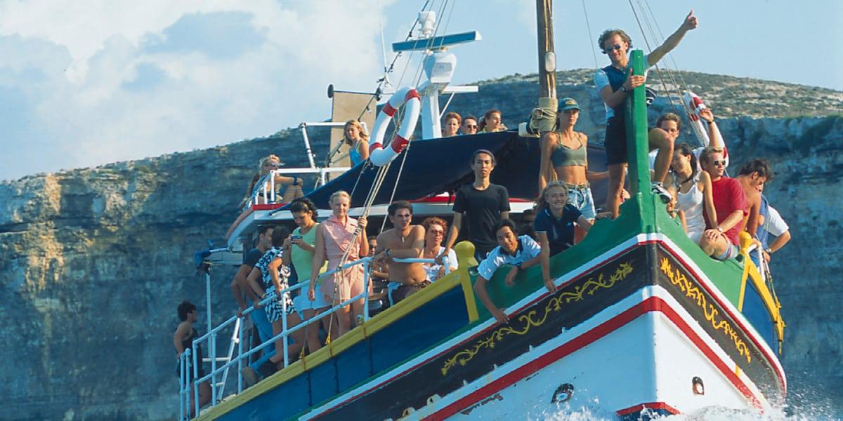 séjour linguistique excursion bateau mer
