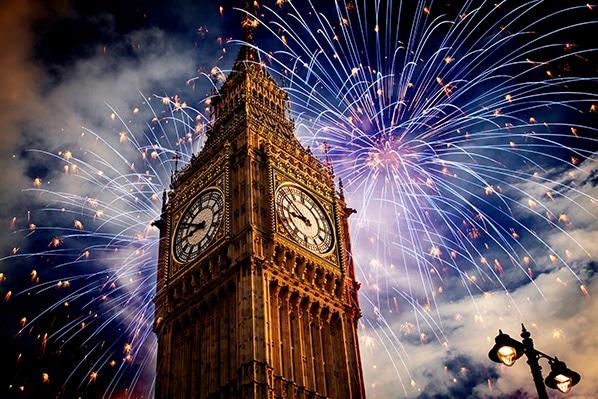 nouvel an à Londres